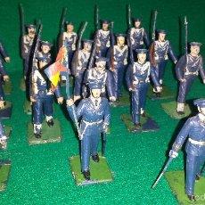 Figuras de Goma y PVC: MARINEROS DE DESFILE DE GOMARSA O REAMSA , SOLDIS 19 UNIDADES. Lote 57617320