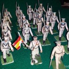 Figuras de Goma y PVC: MARINEROS BLANCOS DE DESFILE DE GOMARSA O REAMSA , SOLDIS 20 UNIDADES. Lote 57617484