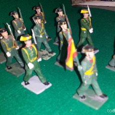 Figuras de Goma y PVC: GUARDIA CIVIL DE DESFILE DE GOMARSA O REAMSA , SOLDIS 11 UNIDADES. Lote 57617557