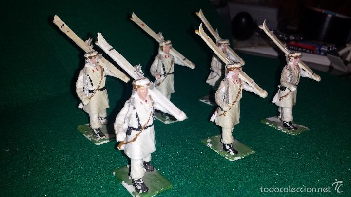 Figuras de Goma y PVC: ESQUIADORES DE DESFILE DE GOMARSA O REAMSA , SOLDIS 6 UNIDADES - Foto 3 - 57617605