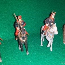 Figuras de Goma y PVC: GUARDIA REAL A CABALLO DE DESFILE DE GOMARSA O REAMSA , SOLDIS 4+4 UNIDADES. Lote 57617861