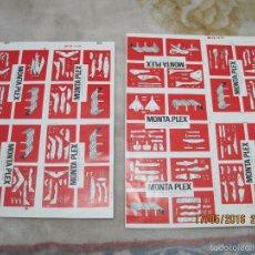 Figuras de Goma y PVC: MONTAPLEX-PRUEBAS DE IMPRESION DE LOS SOBRES SERIE 400-ORIGINALES!!!. Lote 57645891