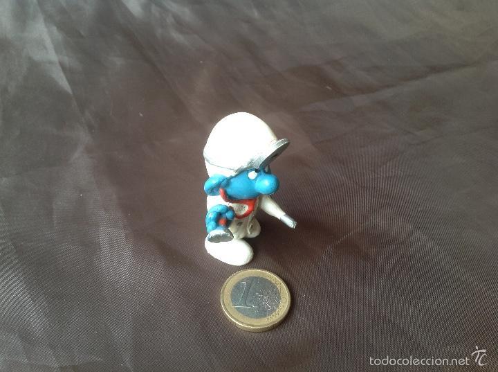 Figuras de Goma y PVC: Figura pvc smurf pitufo Doctor w. Germany schleich 3 peyo 1978 - Foto 2 - 57661284