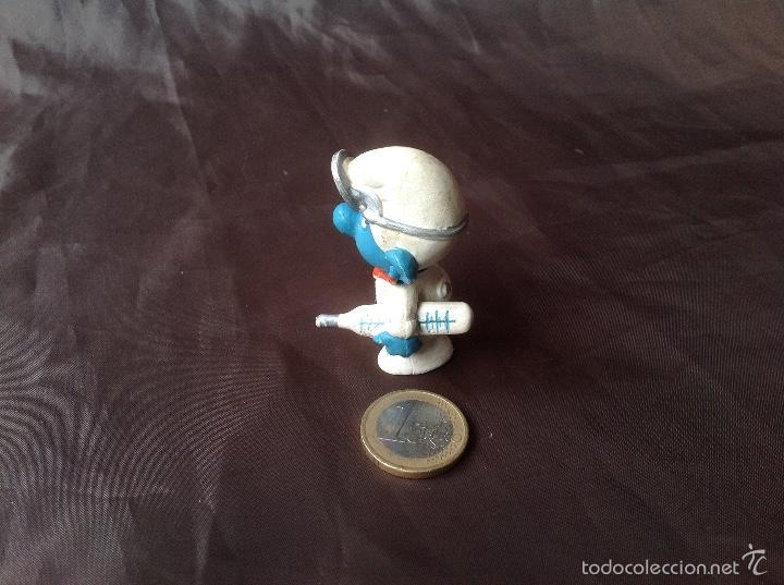 Figuras de Goma y PVC: Figura pvc smurf pitufo Doctor w. Germany schleich 3 peyo 1978 - Foto 4 - 57661284
