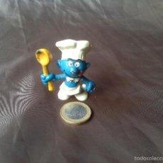 Figuras de Goma y PVC: FIGURA PVC SMURF COOKER PITUFO COCINERO WEST GERMANY BULLY PEYO 1. Lote 57661449