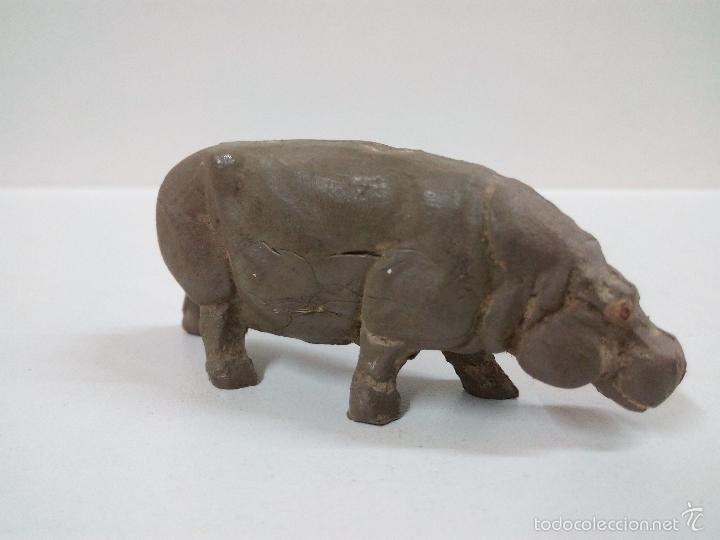 Figuras de Goma y PVC: HIPOPOTAMO . SERIE FIERAS . PECH . AÑOS 50 EN GOMA - Foto 2 - 57665998
