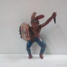 Figuras de Goma y PVC: GUERRERO INDIO PARA CABALLO . TEIXIDO . AÑOS 50 . EN GOMA. Lote 57687221