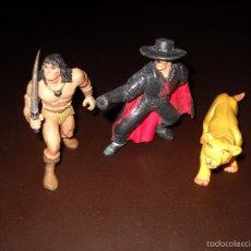 Figuras de Goma y PVC: EL ZORRO,CONAN Y LEON.. Lote 57692325