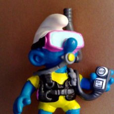 Figuras de Goma y PVC: PITUFO-SMURF-BUZO-SCHLEIGH GERMANY-MADE IN CHINA '99 PEYO. Lote 57725799