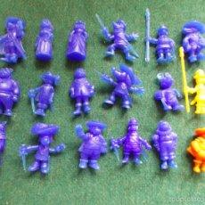 Figuras de Goma y PVC: COLECCCIÓN COMPLETA DE DARTACAN Y LOS MOSQUEPERROS DUNKIN. Lote 57746879
