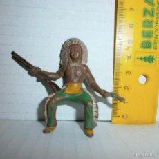 Figuras de Goma y PVC: FIGURA ANTIGUA DE GOMA OESTE. Lote 57768815
