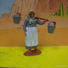 Figuras de Goma y PVC: FIGURA MUJER REAMSA SERIE EL RANCHO GRANDE DE REAMSA. Lote 57795035