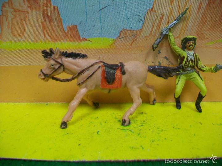 Figuras de Goma y PVC: FIGURA VAQUERO CABALLO PECH HERMANOS - FIGURA HERMANOS PECH - Foto 2 - 57795315