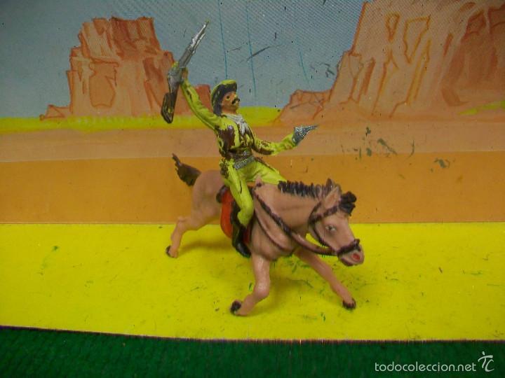 Figuras de Goma y PVC: FIGURA VAQUERO CABALLO PECH HERMANOS - FIGURA HERMANOS PECH - Foto 4 - 57795315