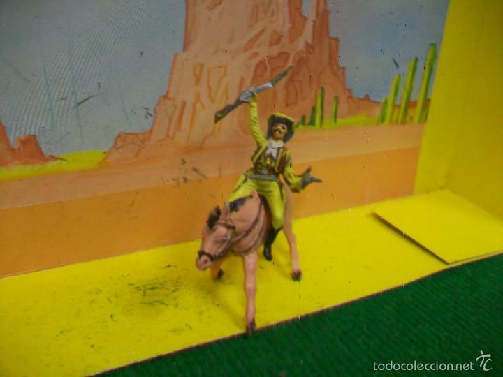 Figuras de Goma y PVC: FIGURA VAQUERO CABALLO PECH HERMANOS - FIGURA HERMANOS PECH - Foto 5 - 57795315