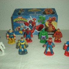 Figuras de Goma y PVC: LOTE 10 MINI - FIGURAS PVC SPIDER-MAN & FRIENDS (MARVEL). Lote 57807056