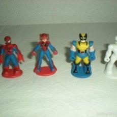 Figuras de Goma y PVC: LOTE 4 MINI - FIGURAS PVC SPIDER-MAN & FRIENDS (MARVEL). Lote 57807218