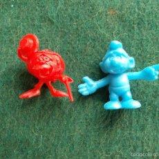 Figuras de Goma y PVC: FIGURAS DE DUNKIN RUPERTA DEL 123 Y PITUFO. Lote 57827869