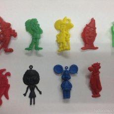 Figuras de Goma y PVC: LOTE 10 FIGURAS DE LA TV DE PIPAS CHURRUCA -TOPO GIGO -BONANZA-OSO YOGI-BUGS BUNY ETC. Lote 57864666