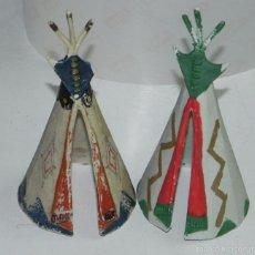 Figuras de Goma y PVC: DOS TIPI INDIO, DE REAMSA O JECSAN, REALIZADOS EN PLASTICO.. Lote 57905173