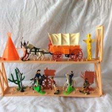 Figuras de Goma y PVC: SOLDADOS INDIOS,DILIGENCIA DE COMAMSI AÑOS 80. Lote 57940551