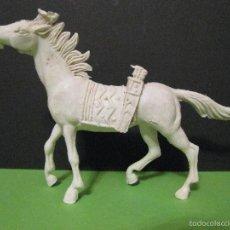 Figuras de Goma y PVC: FIGURA CABALLO COMANSI - CABALLO INDIO BLANCO.. Lote 57960864