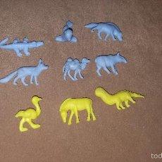 Figuras de Goma y PVC: LOTE 9 ANIMALES DUNKIN. Lote 57981136