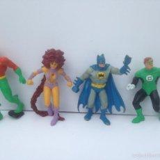 Figuras de Goma y PVC: LOTE FIGURAS PVC HEROES BATMAN AZUL (DIFICIL) COMICS SPAIN AQUAMAN TIGRA LINTERNA VERDE MARVEL DC. Lote 57982353