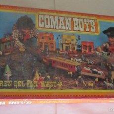 Figuras de Goma y PVC: COMAN BOYS TREN DEL FAR WEST, EN CAJA. CC. Lote 57985487