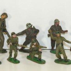 Figuras de Goma y PVC: COLECCIÓN DE 13 FIGURAS EN GOMA. SOLDADOS AMERICANOS. COMANSI. ESPAÑA. 1970.. Lote 57991780