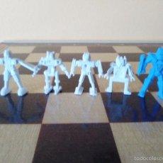 Figuras de Goma y PVC: LOTE DE 5 FIGURAS PVC DUNKIN. GUERREROS MARCIANOS EXTRATERRESTRES. Lote 58005088