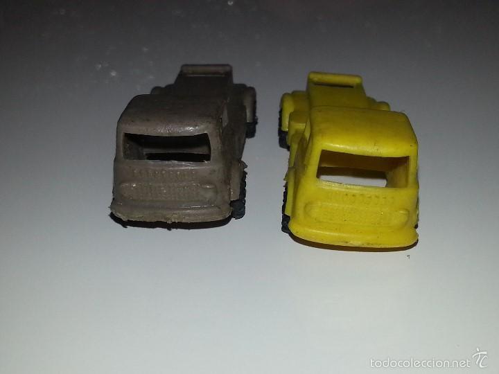 Figuras de Goma y PVC: MONTAPLEX ESJUSA ZIX : LOTE DE 2 CAMIONES EBRO PEGASO EN PLASTICO KIOSCO AÑOS 60 / 70 - Foto 2 - 58178678