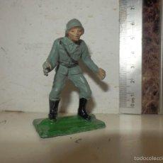 Figuras de Goma y PVC: JECSAN ALEMANES EN COMBATE NAZIS I AÑOS 50 GUERRA MUNDIAL. Lote 191815602