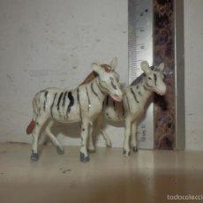 Figuras de Goma y PVC: CEBRAS PVC AFRICA MISTERIOSA JECSAN OMO. Lote 58213604