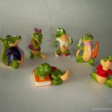 Figuras Kinder: FIGURAS KINDER COCODRILO COCODRILOS. Lote 58225478