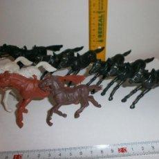 Figuras de Goma y PVC: FIGURAS DE PLASTICO ANTIGUAS CABALLOS JECSAN OESTE. Lote 58243847