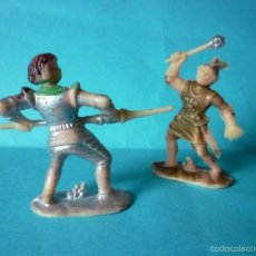 Figuras de Goma y PVC: FIGURAS CABALLEROS MEDIEVALES 54MM. Lote 58276232