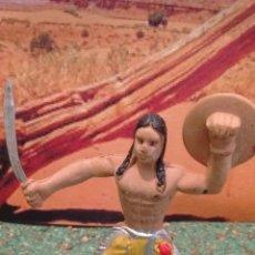Figuras de Goma y PVC: FIGURA DEL OESTE. GUERRERO INDIO. GOMA.. Lote 58437329
