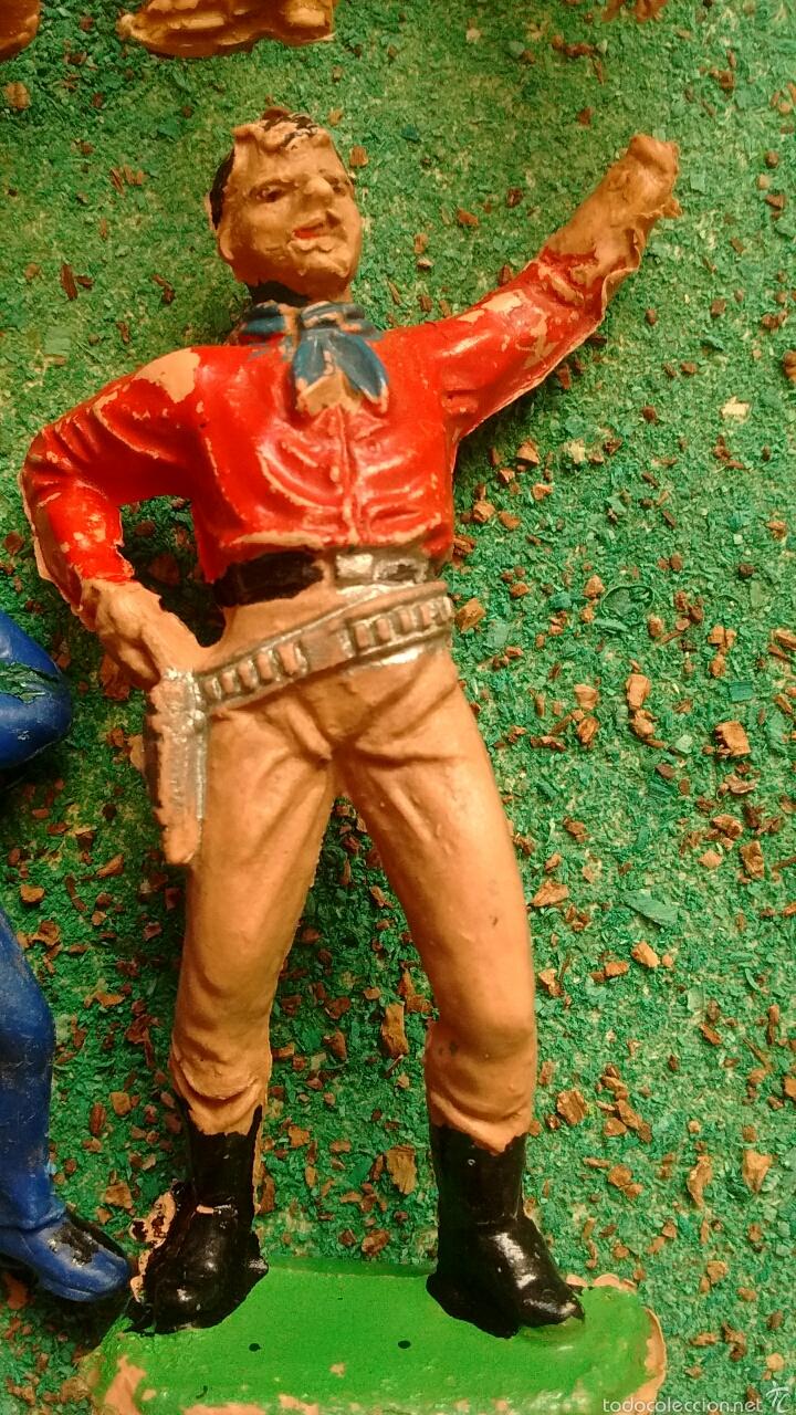 Figuras de Goma y PVC: Lote Antiguas Figuras del Oeste. Defectuosas. Comansi, Jecsan. - Foto 7 - 58445566