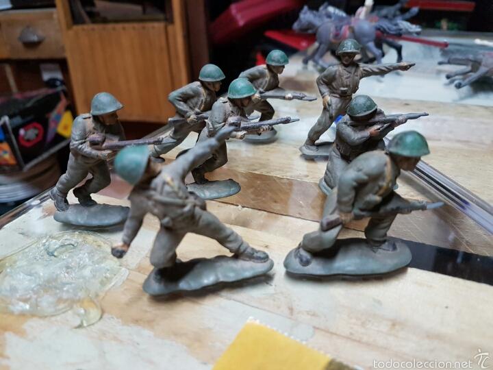 Figuras de Goma y PVC: Figuras reamsa años 50 .8 piezas - Foto 2 - 58446153