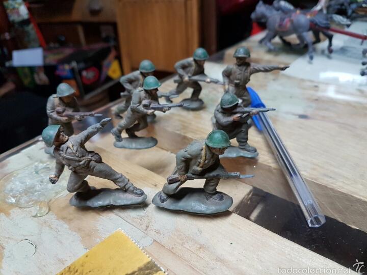 Figuras de Goma y PVC: Figuras reamsa años 50 .8 piezas - Foto 3 - 58446153