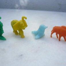 Figuras de Goma y PVC: DUNKIN 4 FIGURAS ANIMALES: FOCA, ELEFANTE, CANGURO Y JABALÍ. Lote 58469414