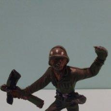 Figuras de Goma y PVC: ANTIGUA FIGURA COMANSI. SOLDADO AMERICANO.SERIE EJÉRCITOS DEL MUNDO. PLÁSTICO.. Lote 58470941
