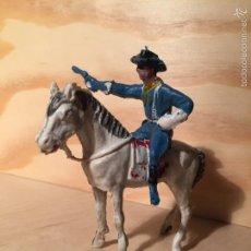 Figuras de Goma y PVC: FIGURA PECH FEDERAL YANKEE SÉPTIMO DE CABALLERÍA PLASTICO A CABALLO. Lote 58557503