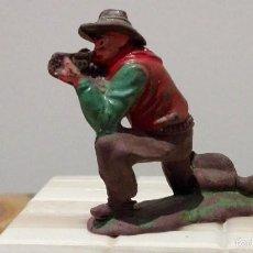 Figuras de Goma y PVC: VAQUERO DEL OESTE GOMA REAMSA Nº58 AÑOS 50. Lote 58587963