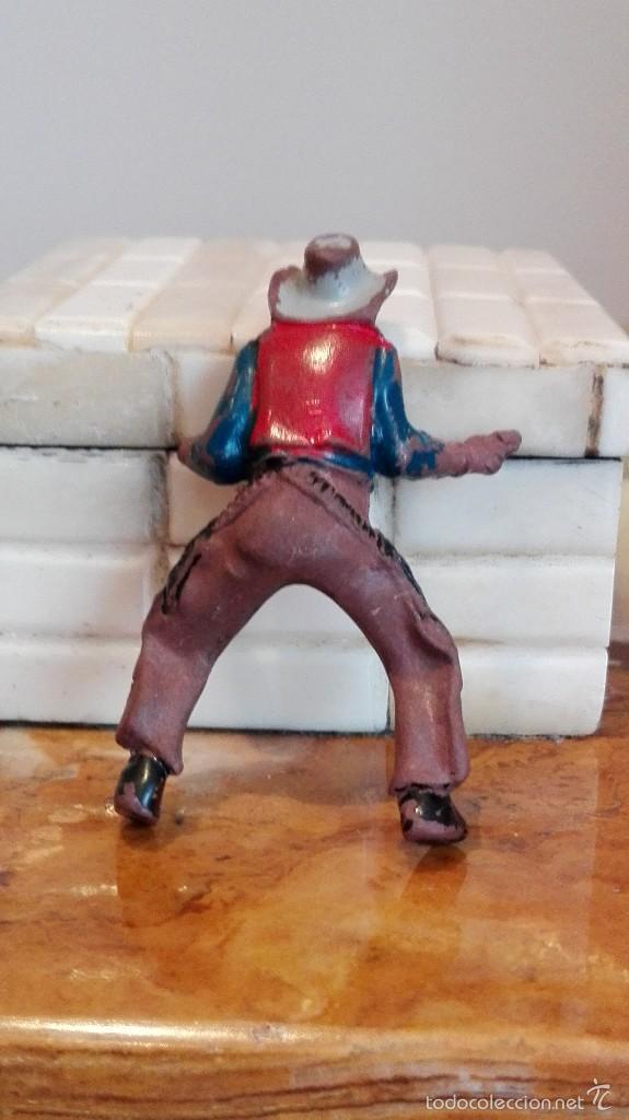 Figuras de Goma y PVC: Vaquero con caballo del Oeste Goma hermanos pech años 50 - Foto 4 - 58595699