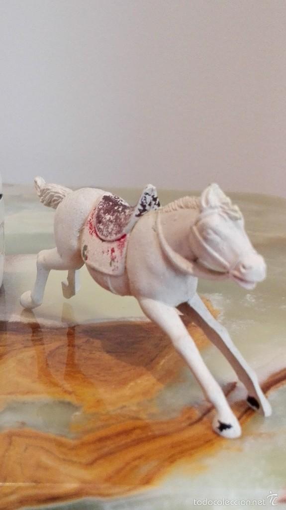 Figuras de Goma y PVC: Vaquero con caballo del Oeste Goma hermanos pech años 50 - Foto 5 - 58595699