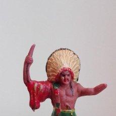 Figuras de Goma y PVC: INDIO DEL OESTE DE GOMA REAMSA Nº20 AÑOS 50. Lote 58596205