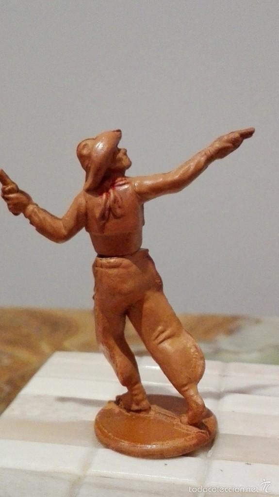Figuras de Goma y PVC: Vaquero del Oeste de goma años 50, de la casa Gama - Foto 2 - 58602116