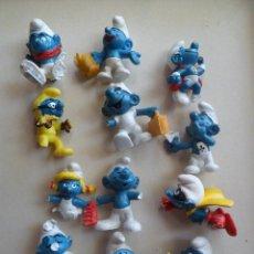 Figuras de Goma y PVC: LOTE ANTIGUOS PITUFOS PITUFO PVC SCHLEICH BOOTLEG FAKE (VER BIEN DESCRIPCIÓN Y FOTOS). Lote 58650937